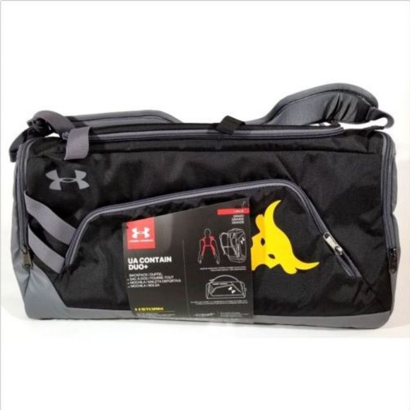 Under Armour X Project Rock Contain Duo Duffle Bag 8158a6ad81c89